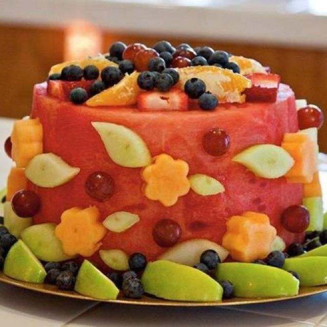 happy birthday healthy ; watermeloncake1