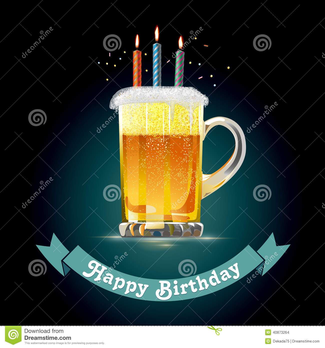 happy birthday hombre ; happy-birthday-card-person-who-loves-beer-mug-candles-40873264