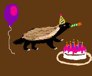 happy birthday honey badger ; Bkc2AAsK8B-8