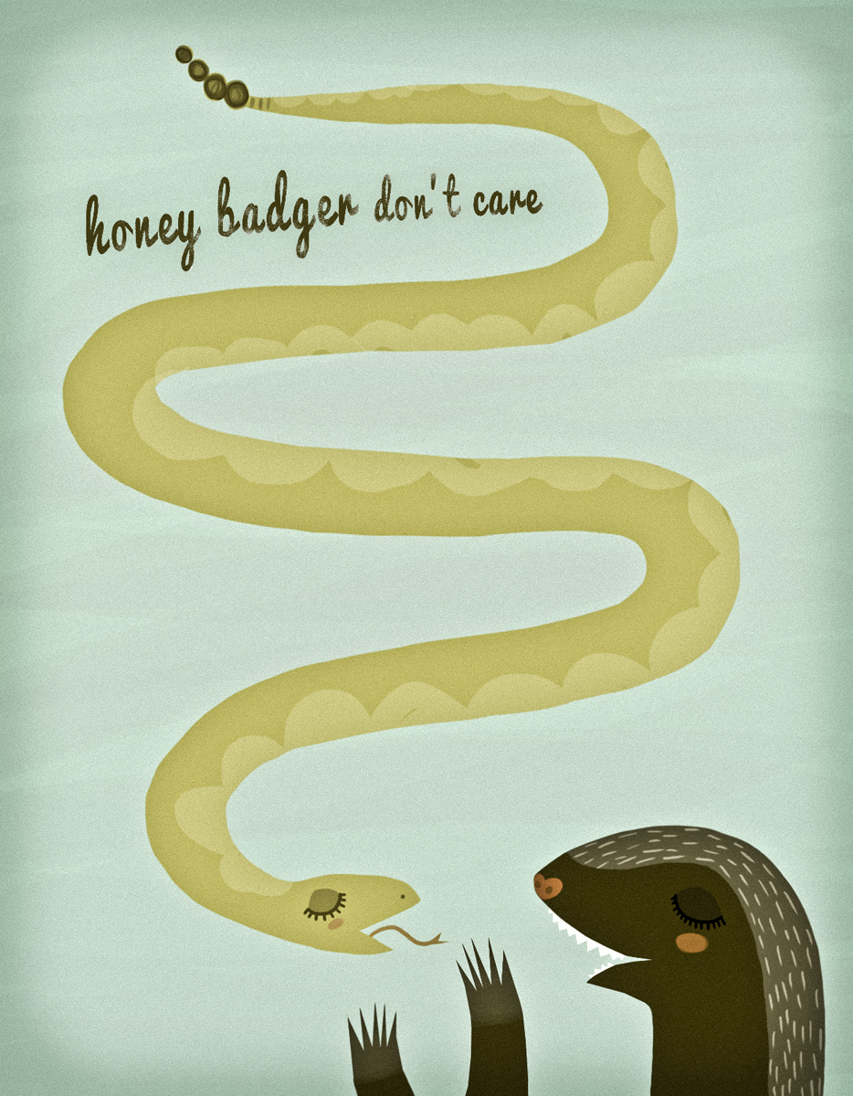 happy birthday honey badger ; honeybadger