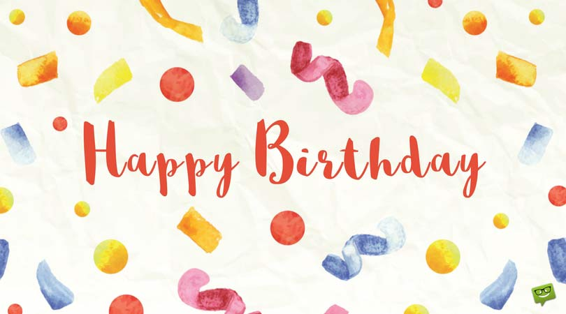 happy birthday image in ; Cute-birthday-message-for-friend-on-card-with-colorful-confetti-1