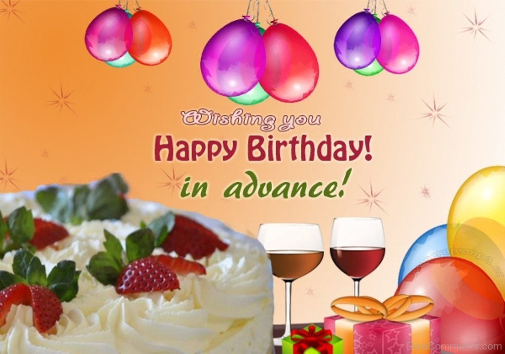 happy birthday image in ; Wishing-Your-Happy-Birthday-In-Advance