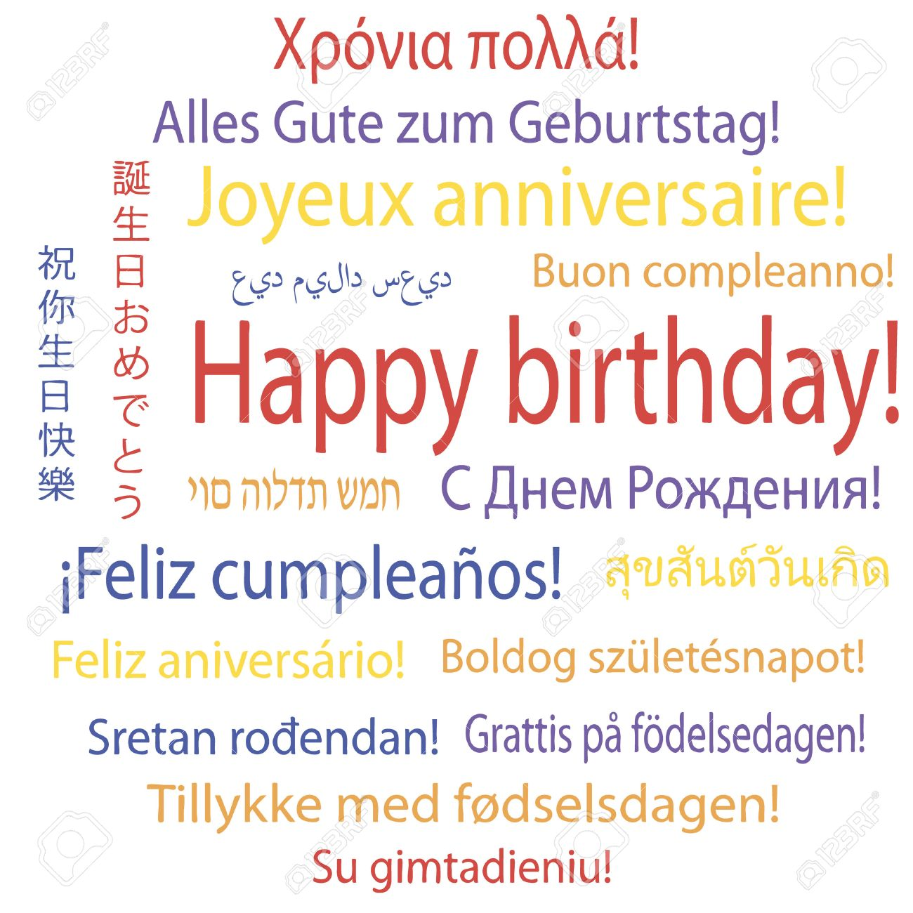happy birthday in different languages ; 27675207-happy-birthday-in-many-languages