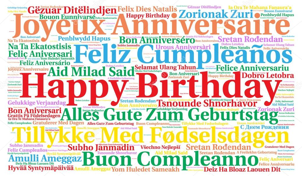 happy birthday in different languages ; depositphotos_102671166-stock-photo-happy-birthday-in-different-languages