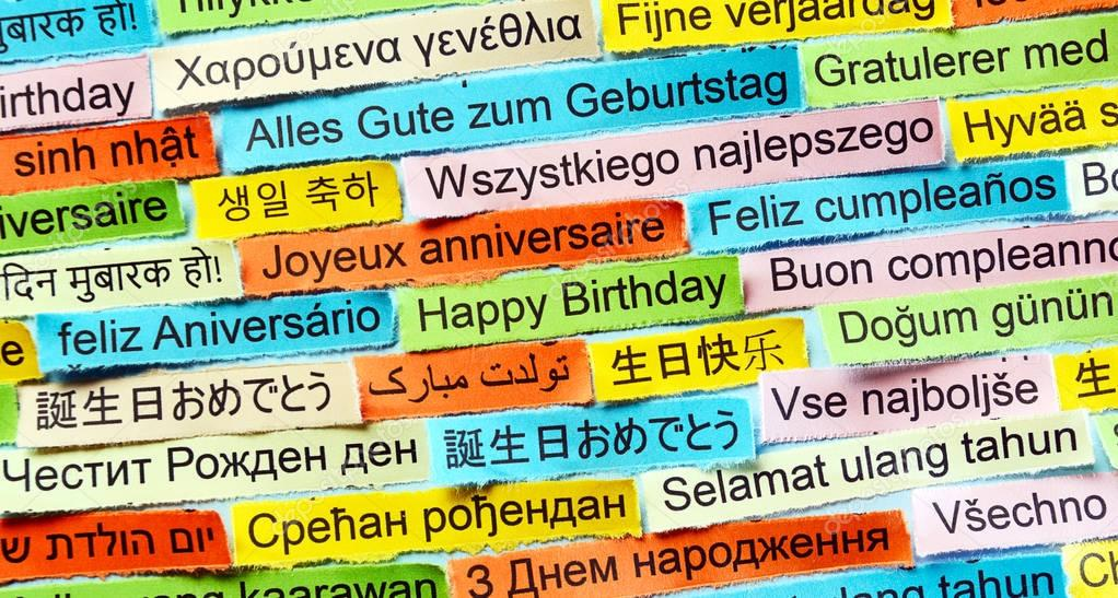 happy birthday in different languages ; depositphotos_129080540-stock-photo-happy-birthday-on-different-languages