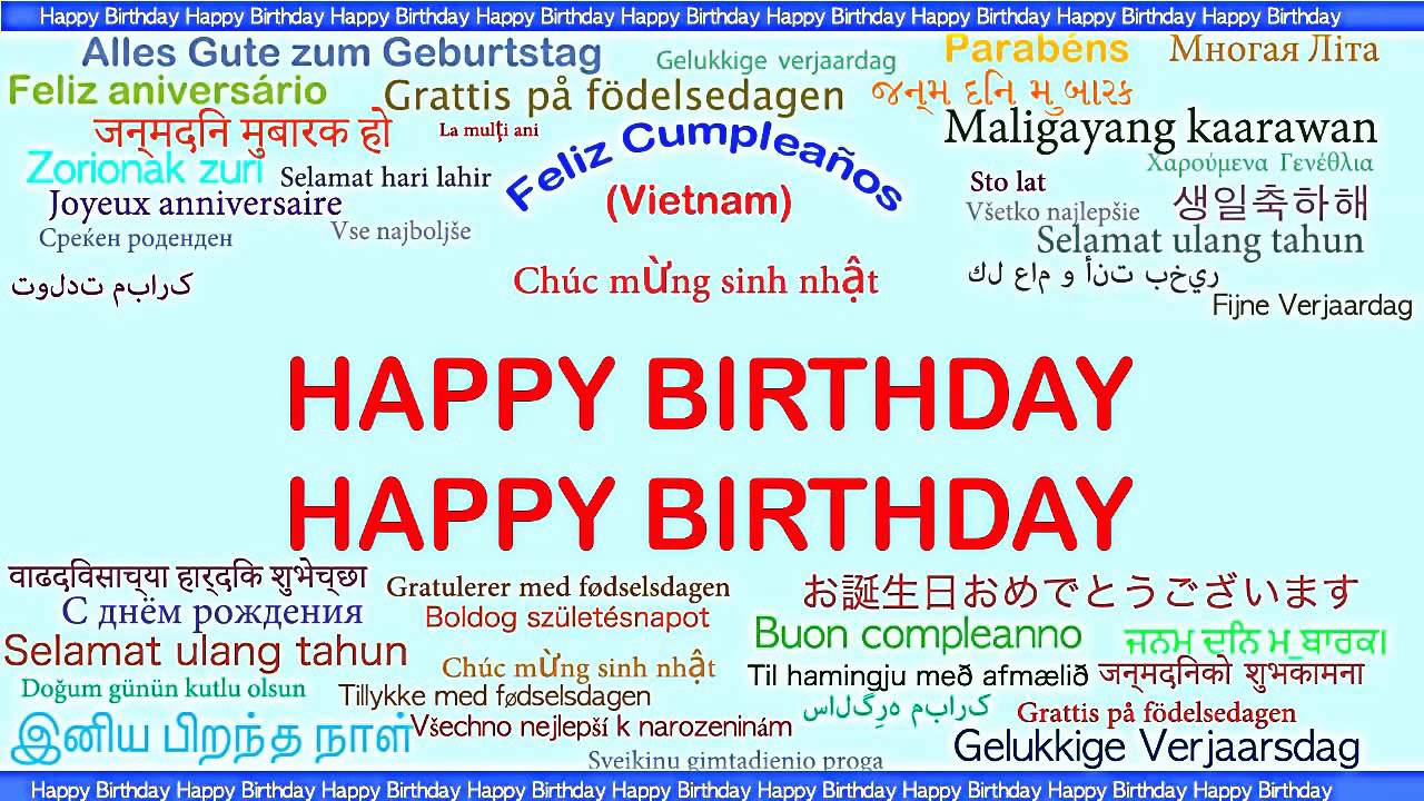 happy birthday in different languages ; maxresdefault