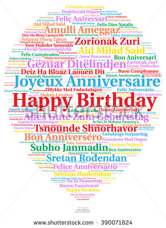 happy birthday in different languages ; stock-photo-happy-birthday-in-different-languages-390071824