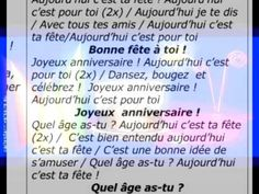 happy birthday in french lyrics ; 5fdaa2fe93e6647b8a8c5ce536dcd4a1--music-videos-lyrics
