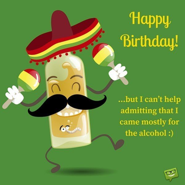 happy birthday in mexican ; Funny-birthday-wish-on-image-with-mexican-booze
