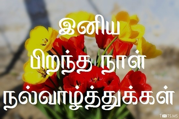 happy birthday in tamil ; tamil-birthday-wishes-with-flowers