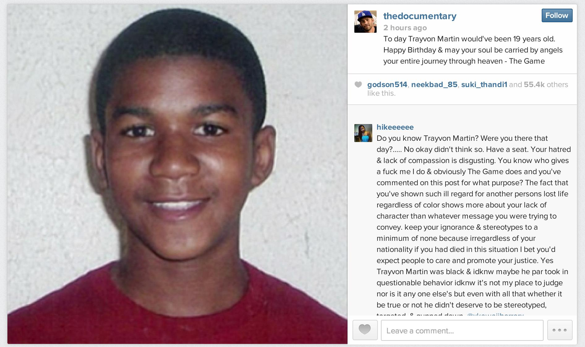 happy birthday instagram post ; Trayvon_Martin_the_game