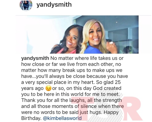 happy birthday instagram post ; YandySmithRant1