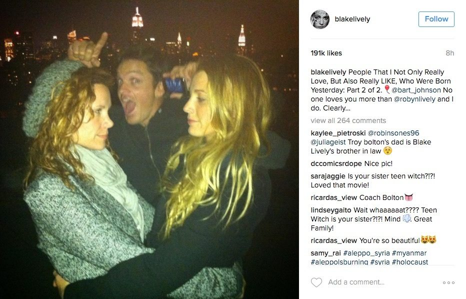 happy birthday instagram post ; blake-lively-birthday-instagram