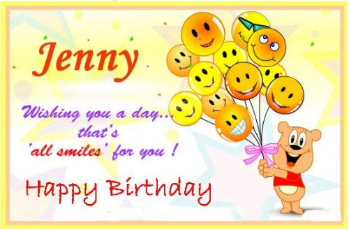 happy birthday jenny ; JennyBirthday