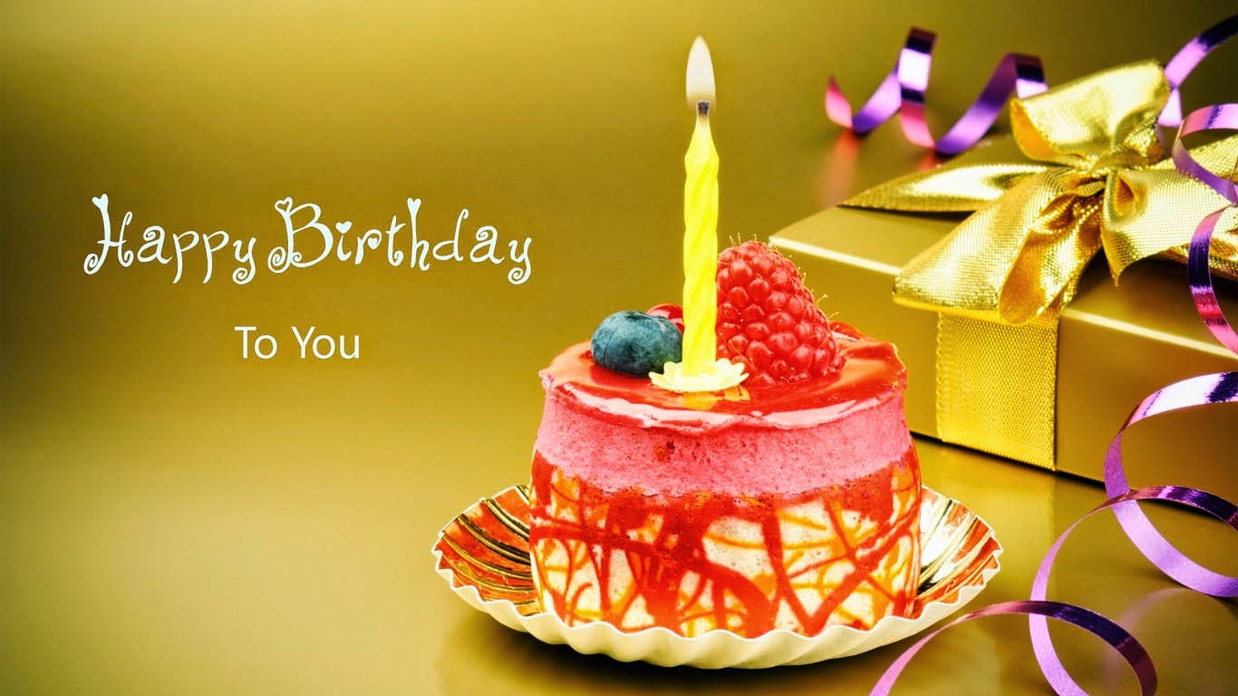 happy birthday latest wallpaper ; Happy-Birthday-To-You-Cards-With-Gift-Cake-Candle