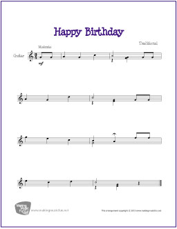 happy birthday lead sheet pdf ; happy-birthday-guitar