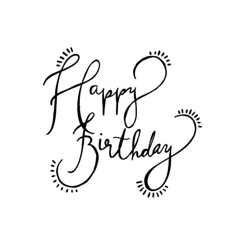 happy birthday line drawing ; happy-birthday-line-drawing-23