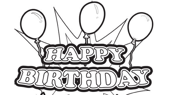 happy birthday line drawing ; happy-birthday-line-drawing-33