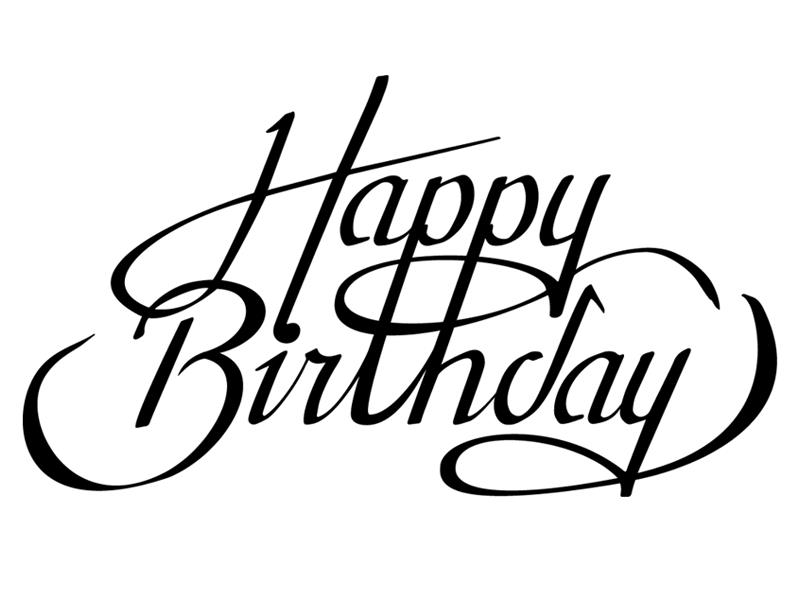 happy birthday line drawing ; happy-birthday-line-drawing-34