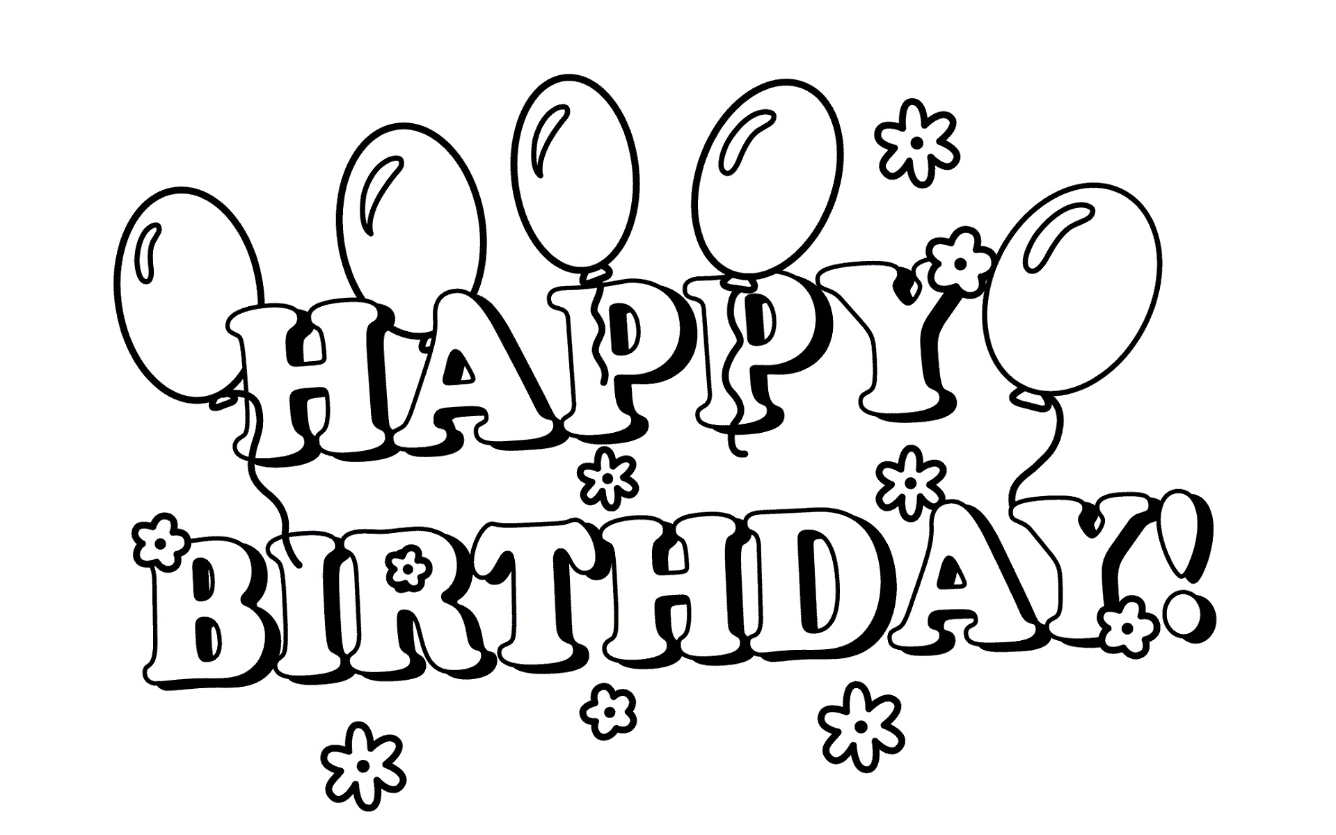 happy birthday line drawing ; happy-birthday-line-drawing-36