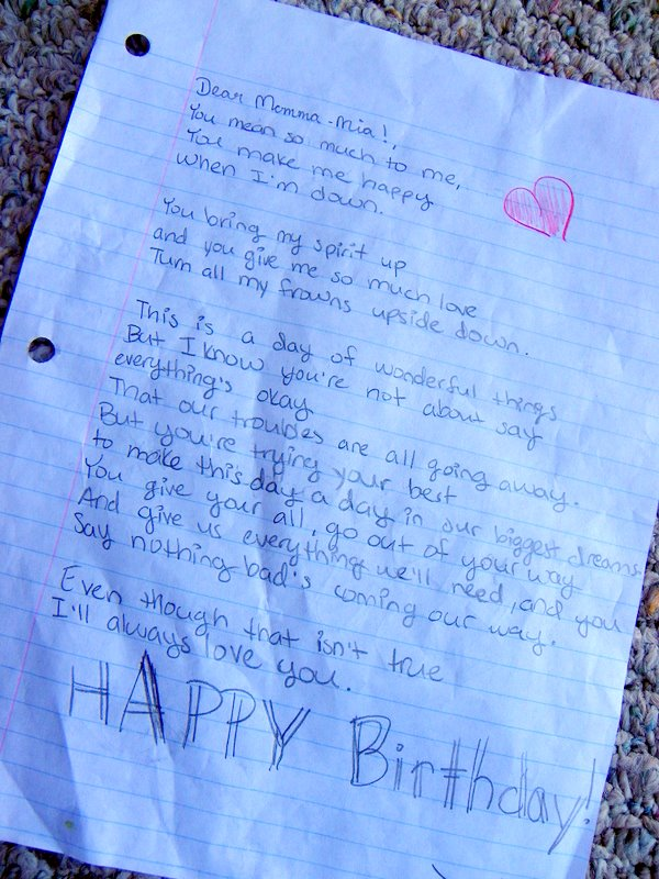 happy birthday love letter ; 102_2367