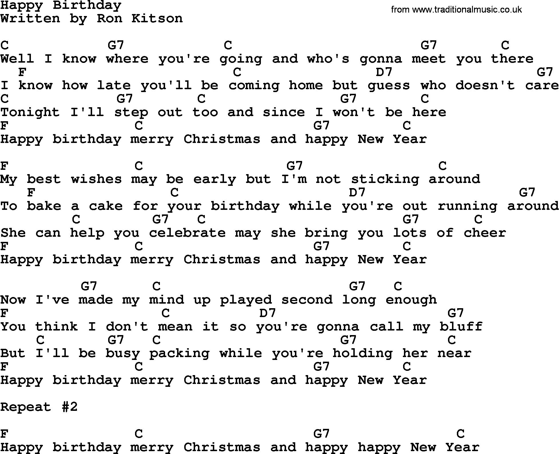 happy birthday lyrics and chords ; happy-birthday-crd