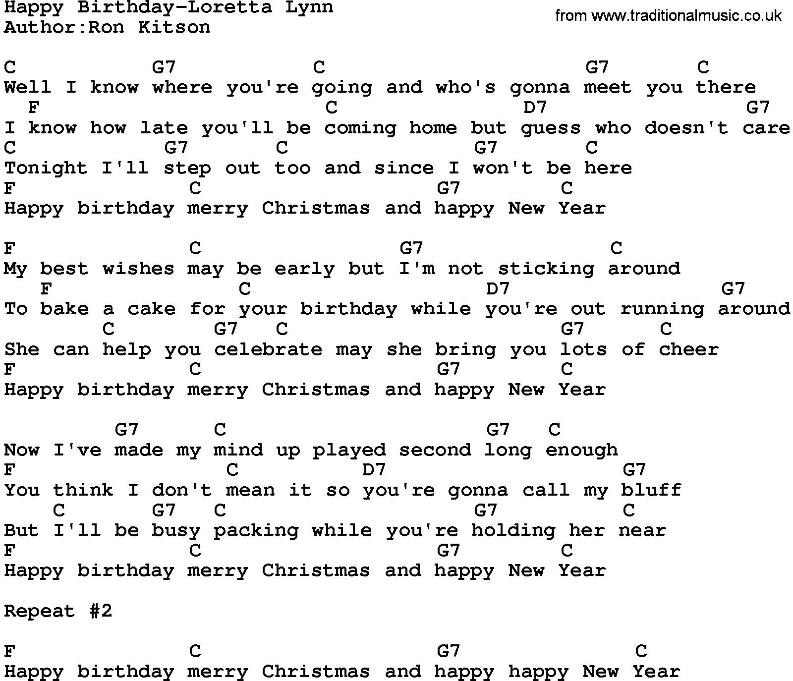 happy birthday lyrics and chords ; happy_birthday-loretta_lynn