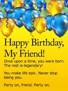 Happy Birthday Male Friend Images Wishes
