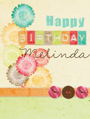 happy birthday melinda ; MelindaCards