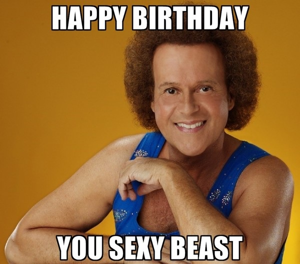 happy birthday meme for husband ; happy-birthday-you-sexy-beast-husband-meme-1