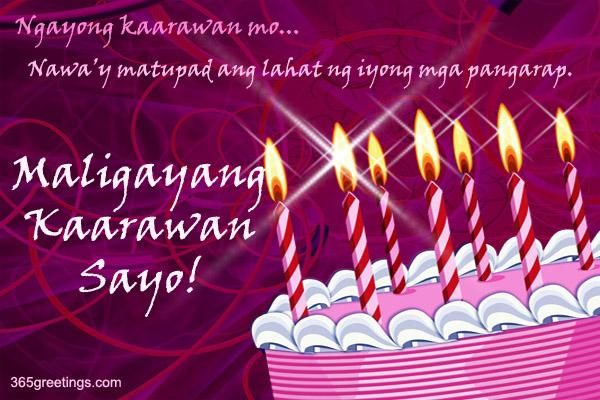 happy birthday message tagalog ; Birthday_2