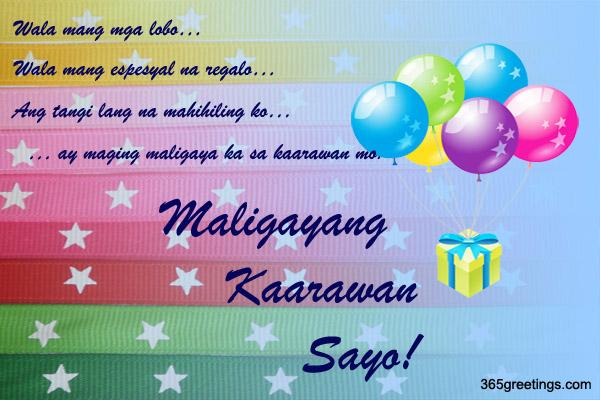 happy birthday message tagalog ; Birthday_3
