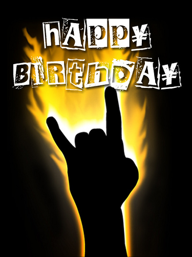happy birthday metal ; nNEjd4D