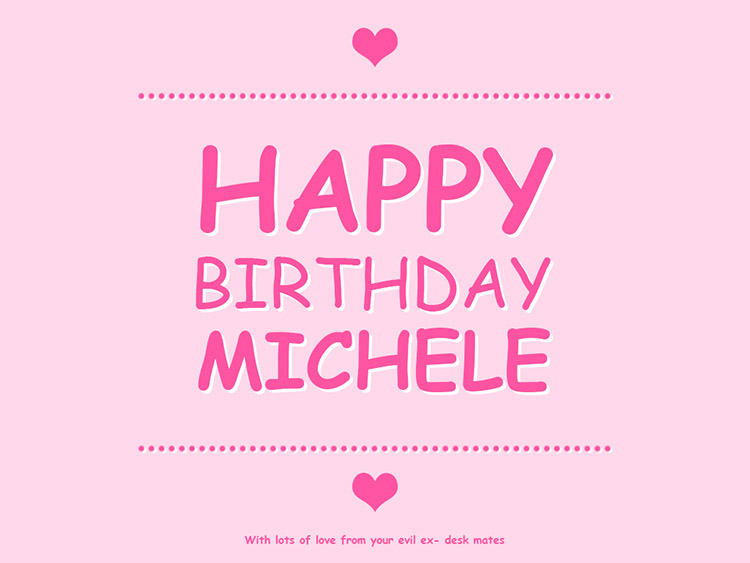 happy birthday michele images ; michele