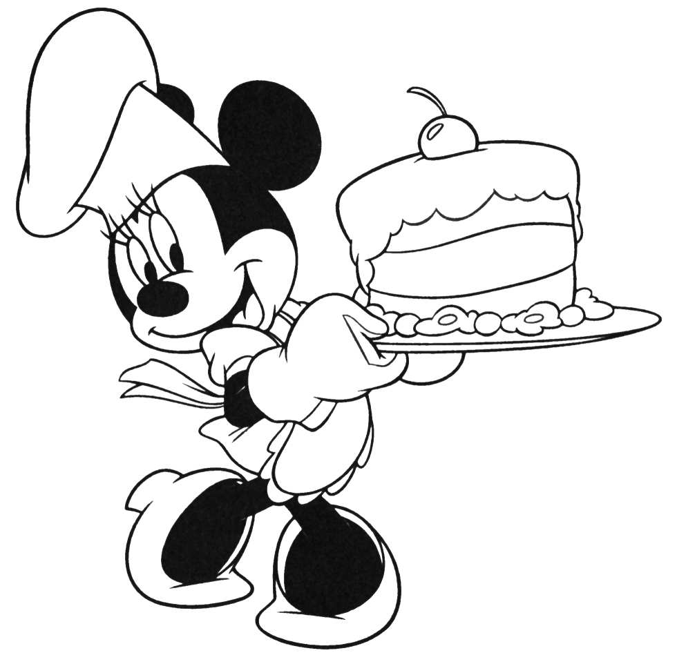happy birthday minnie mouse coloring pages ; Coloring-Pages-of-Minnie-Mouse-With-Cake