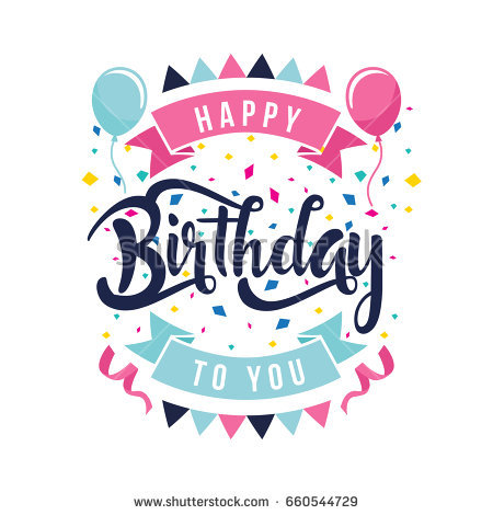 happy birthday modern ; stock-vector-modern-happy-birthday-card-illustration-clean-flat-birthday-hand-lettering-typography-660544729