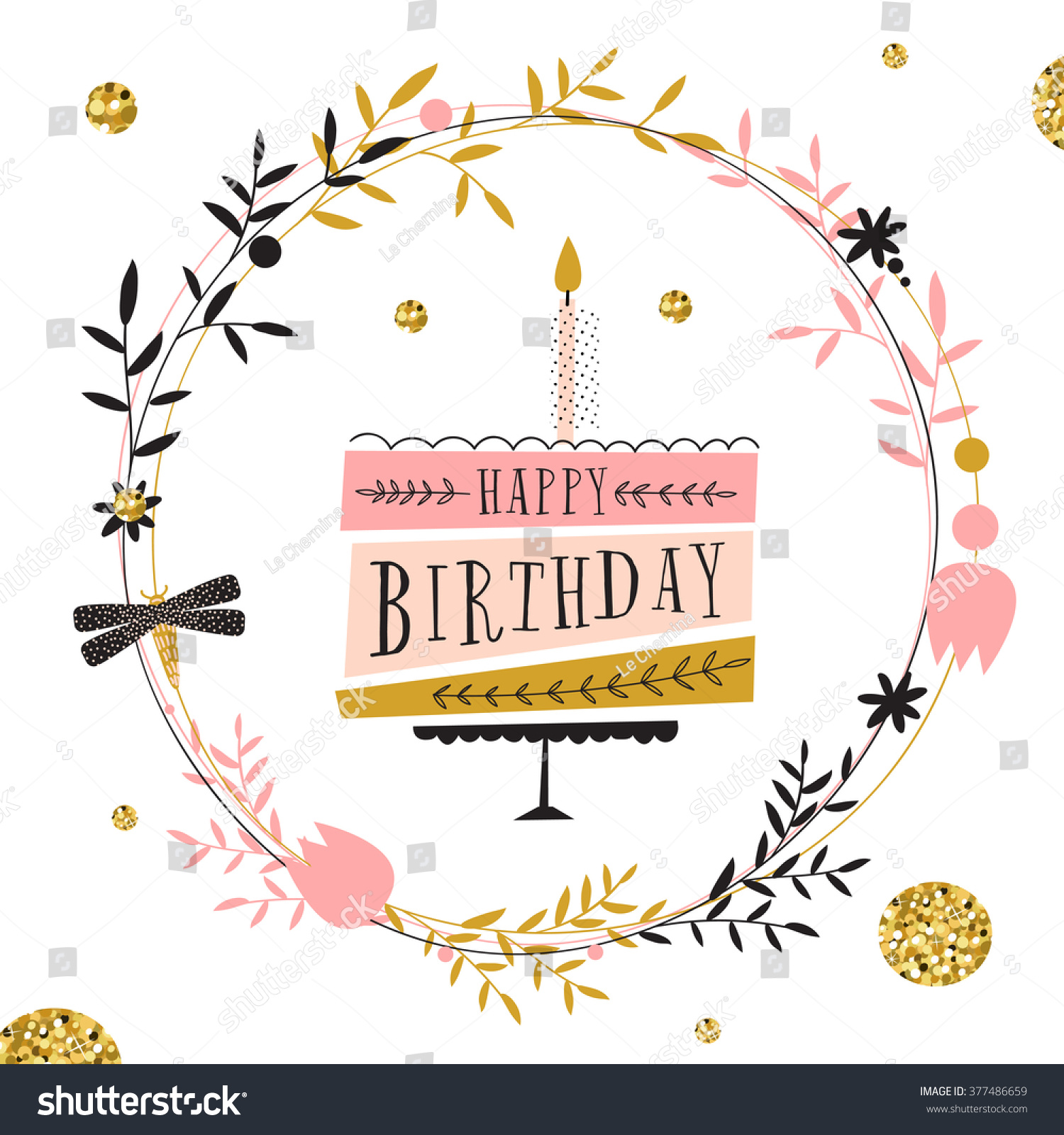 happy birthday modern ; stock-vector-vector-happy-birthday-card-modern-hipster-greeting-with-handwriting-type-and-minimalistic-377486659