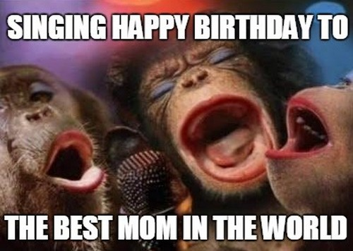 happy birthday mom memes ; singin_monkey_happy_birthday_mom_meme1