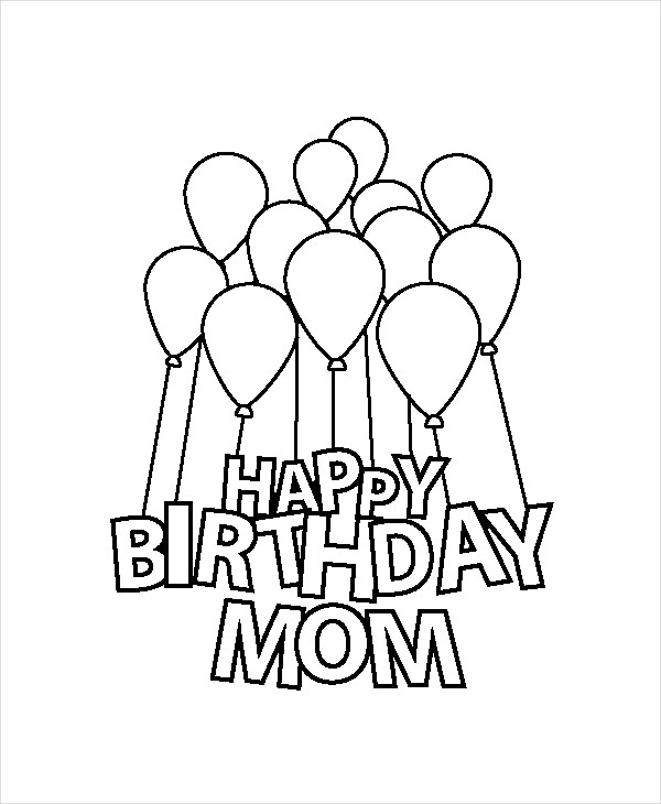 happy birthday mom pictures to color ; Happy-Birthday-Mom-Coloring-Page