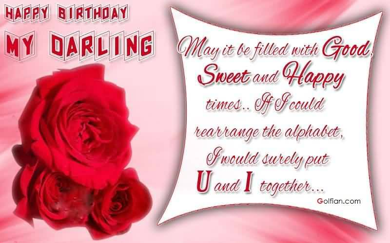 happy birthday my darling ; Awesome-Red-Rose-Birthday-Wishes-For-Fiance