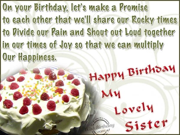 happy birthday my lovely sister ; 9761