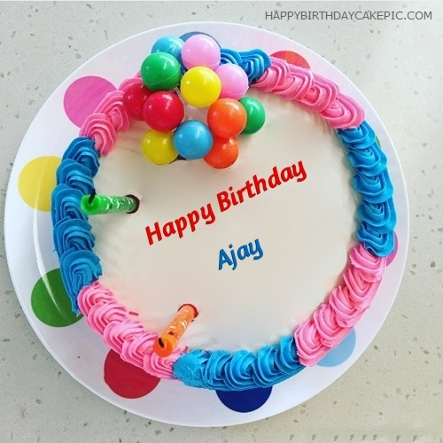 happy birthday nidhi wallpaper ; colorful-happy-birthday-cake-for-Ajay