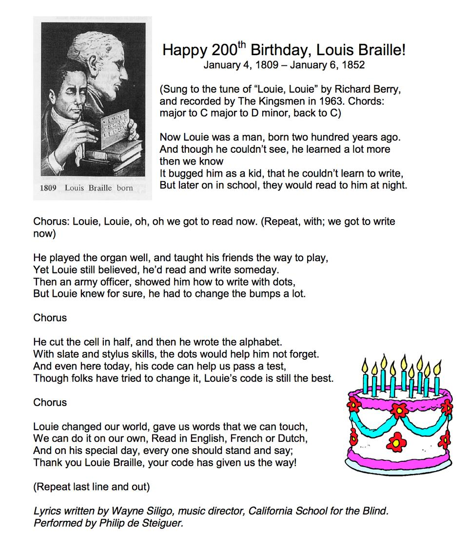 happy birthday organ chords ; Louis_Braille_Birthday_lyrics_rev