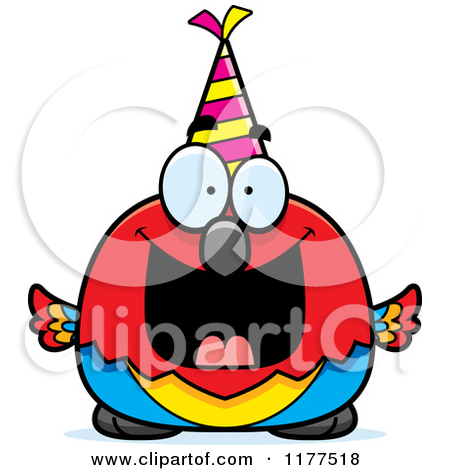happy birthday panda clipart ; birthday-dance-party-clip-art-1177518-Cartoon-Of-A-Happy-Birthday-Parrot-Wearing-A-Party-Hat-Royalty-Free-Vector-Clipart