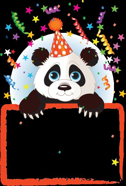 happy birthday panda clipart ; c75af7e1cceae6fbaacb42a4839a1d76