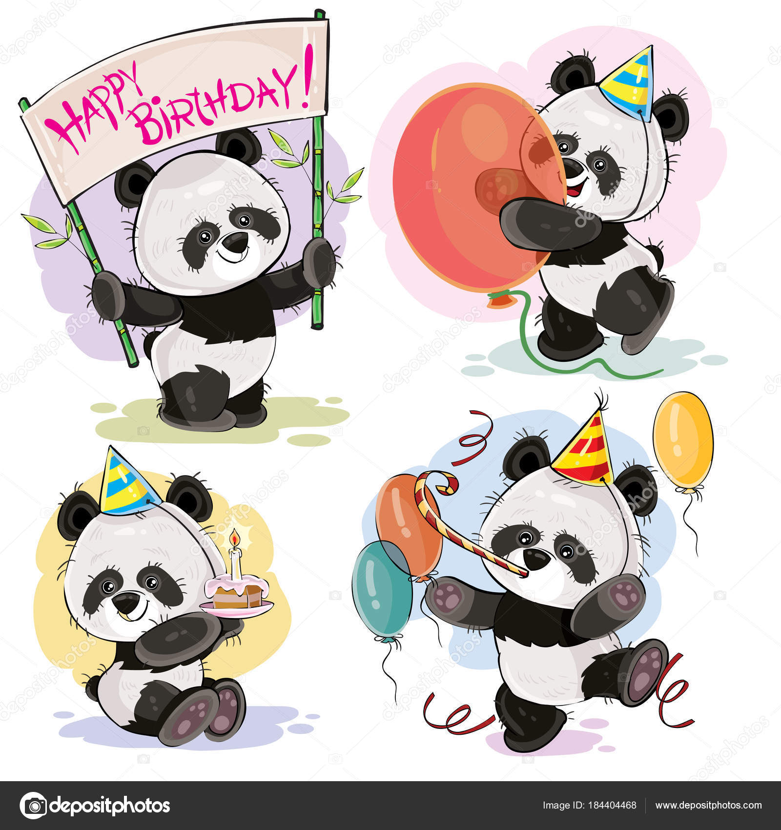 happy birthday panda clipart ; depositphotos_184404468-stock-illustration-happy-birthday-vector-set-with