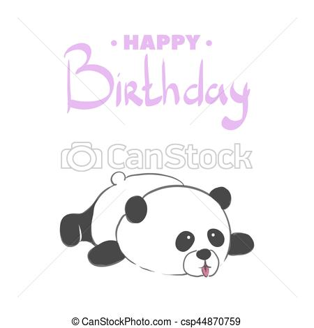 happy birthday panda clipart ; happy-birthday-bear-clipart-vector_csp44870759