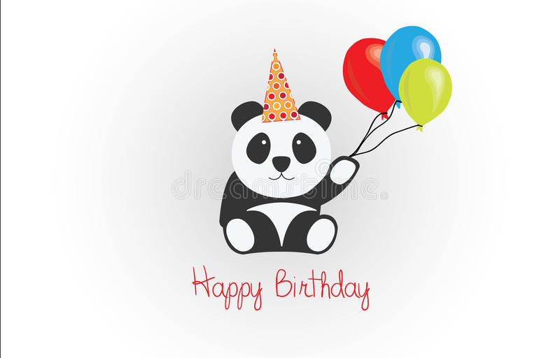 happy birthday panda clipart ; happy-birthday-panda-vector-illustration-card-48815208