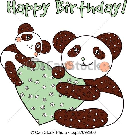 happy birthday panda clipart ; panda-with-heart-happy-birthday-card-vector-clipart_csp37692206