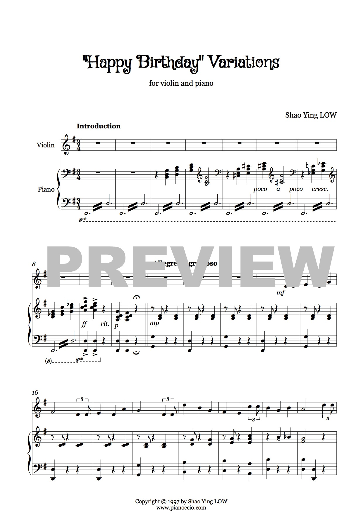 happy birthday piano arrangement ; Happy-Birthday-Variations-Updated